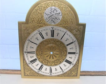 Vintage Clock Face Vintage Grandfather Clock Face Dial Vintage Tempus Fugit Clock Face Made In Western Germany New Old Stock