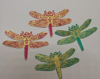 Set of 4 - dragonfly stickers