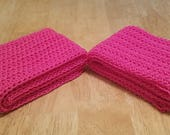 CUSTOM ORDER for Etsian luiginemo  two pink cotton hand crocheted kid sized scarves