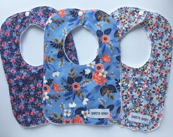 Baby Bibs Gift Set - Baby Girl - Gift for Baby - Rifle Paper Co Bib Set - Baby Shower Gift - Bib - Baby Bib