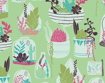 Habitat Lucious - Succulence - Bonnie Christine - AGF - Art Gallery Fabric - 100% Quilters Cotton  SCC-98610