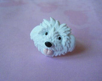 Dog's head ring ♥♥♥♥ ♥ white ♥
