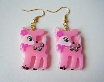 Earrings Bambi pink ♥ ♥