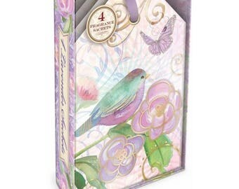 Lavender Bird and Butterfly Sachets Boxed Set