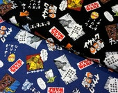 Lucasfilm licensed fabric Star Wars Fabric 50 cm by  106  cm or 19.6  by  42 inches 2 colors to choose
