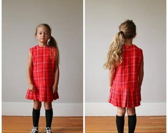 ON SALE 1960s Acrylic School Girl Dress >>> Size 5t/6