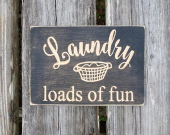 Wooden Laundry Signs For Home Laundry Sign  Etsy