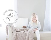Crochet Pattern - Baby Blanket, Chunky Wool Throw, Toddler Afghan, With Tassels - The Little Barrow Blanket