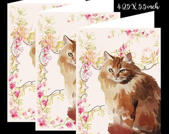 Cat-Cat Note Card Set-Note Card Set of Six