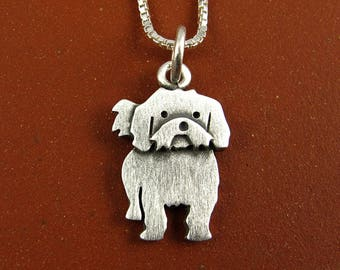 Tiny Shih Tzu necklace / pendant