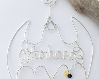 Personalized Batman Christmas Ornament, Batman Ornament, Name Ornament, Custom Ornament, Christmas, Ornament, Home Decor