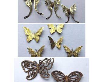 Set of 10 Butterfly Wall Hangings Vintage 70's