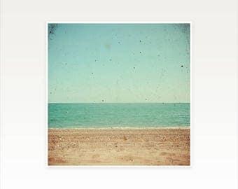 CLEARANCE SALE! Beach Art, Ocean Print - Footprints
