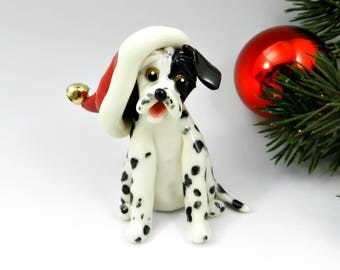 Harlequin Great Dane Christmas Ornament Figurine with wreath Porcelain