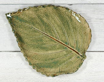Ceramic Leaf - Spoon Rest - Soap Dish - Leaf Pottery