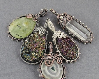 Sale, 15% Off - Beaded Frame Pendant Wire Wrapped Pendant Tutorial