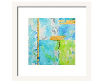 Watercolor Blue Abstract  Art Print-Wall Art-Painting-Reproduction-Giclee-Wall Art-Beach Art-Abstract Painting