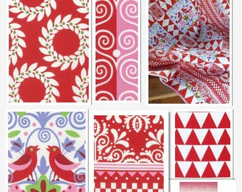 Designer Fabric Jane Sassaman Scandia 6 Piece Fat Quarter Set