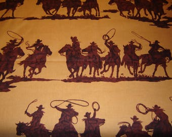 Fabric Alexander Henry OOP 2007, Cowboy Novelty Print