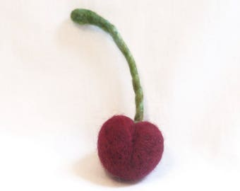 Needle Felted Black Cherry - Felt Fruit