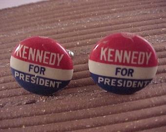 Cuff Links John F Kennedy Campaign Button