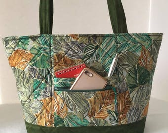 Leaves Quilted Bag