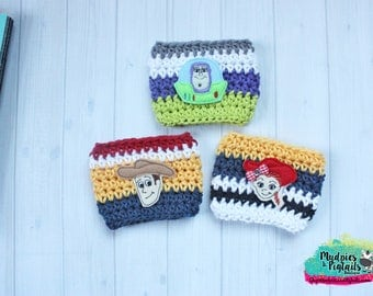 Coffee Cozy { Toy Story } galaxy, woody, jesse, buzz lightyear, to infinity and beyond, inspired, summer, Coffee cup cozy, sleeve tea, latte