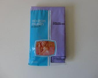 VINTAGE nos pkg of lavender purple PILLOW CASES