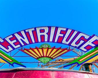 Centrifuge Ride Neon Carnival Fine Art Print- Carnival Art, County Fair, Nursery Decor, Home Decor, Children, Baby, Kids
