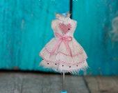 PETITE Blythe doll *pink heart* dress