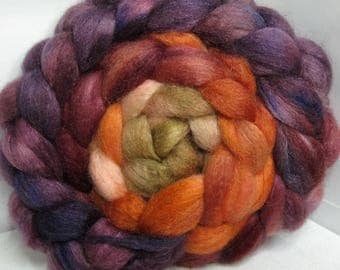 BFL/Cashmere/Tussah 50/25/25 Roving Combed Top - 5oz - Fallen Oak Leaves 2
