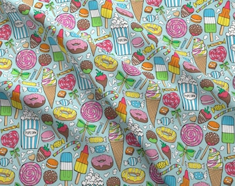Candy Fabric - Sweets,Ice Cream,Donuts And Candy By Caja Design - Candy Cotton Fabric By The Yard With Spoonflower