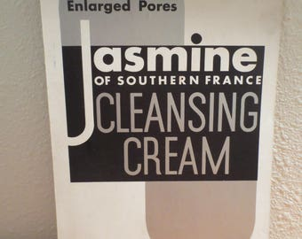 """Vtg Advertisement / Jasmine of Southern France Cleansing Cream / Cardstock 7 x 11"""" / Easy to Frame Advertisement"""