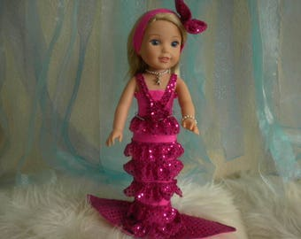 American Girl Wellie Wisher 4-pc. Pink Mermaid Outfit.