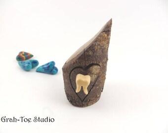 Tooth Fairy Box, Engagement Ring Box, Rustic Wedding Favor Box, Treasure Boxes, Bandsaw Box, Jewelry Box, Grahtoe Studio,Tooth Box
