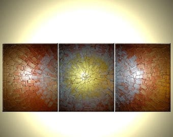 Large Original Contemporary Abstract Gold Painting by Lafferty - 20X48, Sale 22% Off