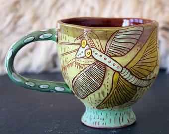 Praying Mantis Large Ceramic coffee mug