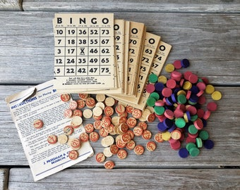 Vintage Bingo Game with Instructions