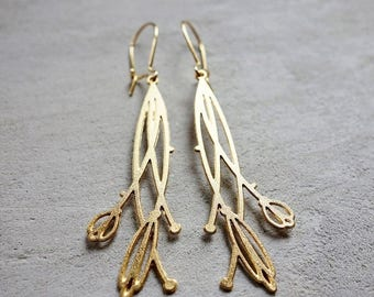 On Sale 40% off, Camille Earrings,  Art Nouveau jewelry, signature earings, Architectural jewelry, art inspired jewelry