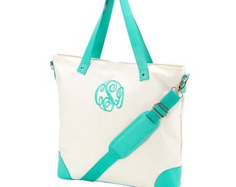 2 Mint green shoulder bag totes canvas mermaid beach wedding bags bridesmaids gifts bridal party gifts Outer Banks BeachHouseDreamsHome OBX