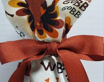 ON SALE Wine Bottle Gift Bag Thanksgiving Gobble Til You Wobble