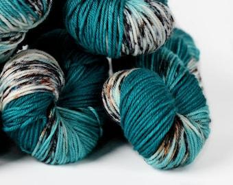 Badlands 245 yards/ Posh DK Yarn/ superwash merino 4 ply speckle dyed