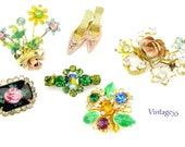 Vintage Pin Lot of 6 Shabby Chic Destash