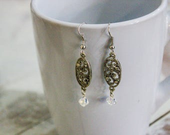 Dangle Earrings - Silver color