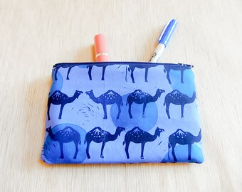 Make Up Bag/ Pencil Case/ Camel Gift for Her/ Gift for Women/ Valentine's Day Gift/ BFF Gift/ Coworker Gift/ Bestfriend Gift/ Sister Gift