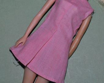 Vintage Barbie Clone Pink Dress