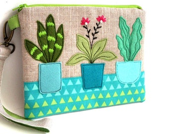 cosmetic case succulent pouch