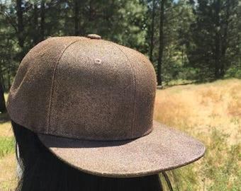 Pink and Gold Flat Brim Snapback Hat