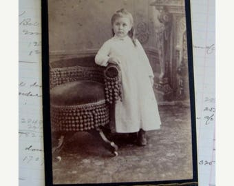 ON SALE Adorable Cabinet Photo Little Girl