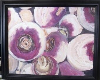 Turnips with frame
